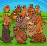 Cartoon bears animal characters. Cartoon Illustration of Funny Bears Animal Characters Group royalty free illustration