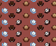 Cartoon bears pattern. Seamless pattern with cartoon four bears Royalty Free Stock Image