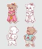 Cartoon bears Royalty Free Stock Photography
