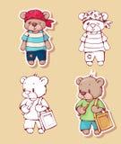 Cartoon bears Royalty Free Stock Photo