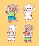 Cartoon bears Stock Photography