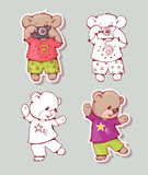 Cartoon bears Stock Photos