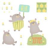 Cartoon bears Stock Photo