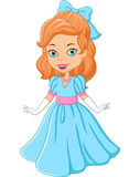 Cartoon beautiful princess Stock Photo