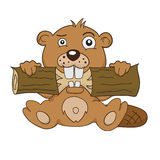 Cartoon beaver Royalty Free Stock Photo