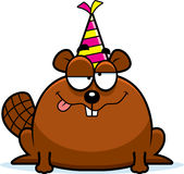 Cartoon Beaver Drunk Party Royalty Free Stock Images