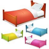 Cartoon Bed Set vector illustration