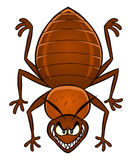 Cartoon bedbug Stock Photography