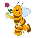 Cartoon bee Stock Photography