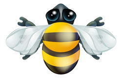 Cartoon bee bug character Royalty Free Stock Photo