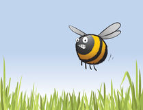 Cartoon Bee Character - Late For Work Royalty Free Stock Photography