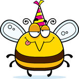Cartoon Bee Drunk Party Royalty Free Stock Photo