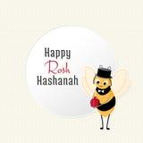 Cartoon bee and Garnet Stock Image
