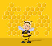 Cartoon bee girl Stock Image