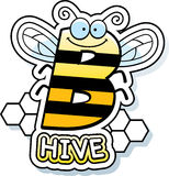 Cartoon Bee Hive Text Stock Images