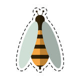 Cartoon bee honey insect insect icon Stock Images