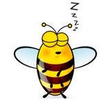 Cartoon Bee. Illustration of a Friendly Cute Sleeping Bee stock illustration