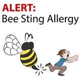 Cartoon Bee Stinging Man Stock Photos