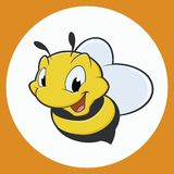 Cartoon Bee. Vector illustration of cartoon bee Royalty Free Stock Images