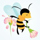 Cartoon Bee Vector Illustration Stock Image