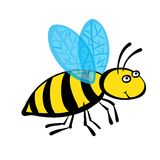 Cartoon bee, vector illustration Royalty Free Stock Image