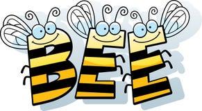 Cartoon Bee Word Stock Image