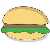 Cartoon Beefburger Royalty Free Stock Image