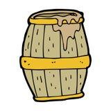 Cartoon beer barrel Stock Photo