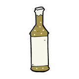 cartoon beer bottle Royalty Free Stock Photography