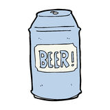 cartoon beer can Royalty Free Stock Image