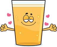 Cartoon Beer Hug Royalty Free Stock Photos