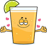 Cartoon Beer with Lime Hug Stock Photo