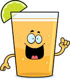 Cartoon Beer with Lime Idea Royalty Free Stock Images