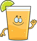 Cartoon Beer with Lime Waving Stock Image