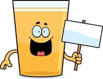Cartoon Beer Sign Stock Image