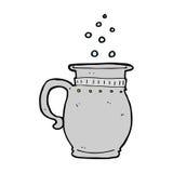 Cartoon beer tankard. Hand drawn cartoon illustration in retro style.  Vector available Stock Photography