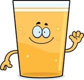 Cartoon Beer Waving Royalty Free Stock Photos