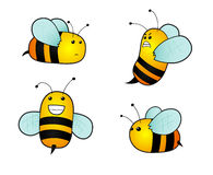 Cartoon bees Royalty Free Stock Photo