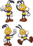 Cartoon bees Royalty Free Stock Images