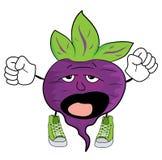 Cartoon beet character Royalty Free Stock Photo