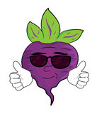 Cartoon beet character Stock Image