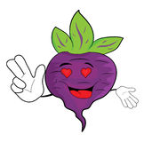 Cartoon beet character Stock Photos