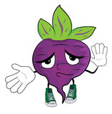 Cartoon beet character Royalty Free Stock Images