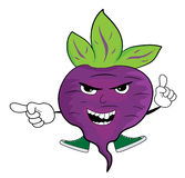 Cartoon beet character Stock Photography