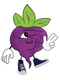 Cartoon beet character Royalty Free Stock Photo