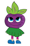 Cartoon beet character Royalty Free Stock Photography
