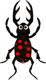 Cartoon beetle on white background. Vector illustration of cartoon beetle on white background Stock Photos