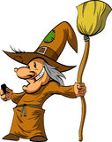 Cartoon Befana or a Witch. Stock Photography