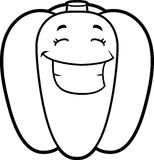 Cartoon Bell Pepper Grinning Royalty Free Stock Image