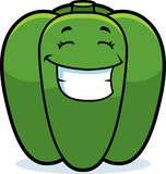 Cartoon Bell Pepper Grinning Royalty Free Stock Photo